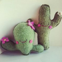 Plush cacti ! https://www.etsy.com/listing/192143151/flowering-cactus-recycled-cashmere?ref=shop_home_active_3