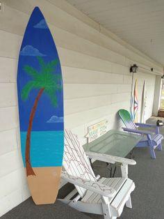 6 Foot Wood Hawaiian Ocean scene with Palm by HopelessRomanticShop, $139.99