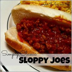 Simply Classic Sloppy Joes...i made it with vegetarian chorizo from Trader Joes...delicious