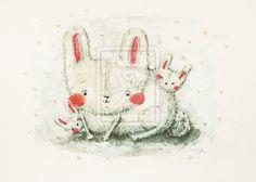 Three bunnies by kolorowaAnka.deviantart.com