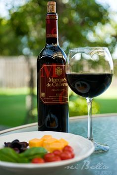 Nice Spanish wine with a simple supper on the deck.