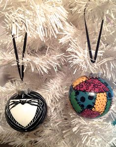 Jack & Sally Ornament Set The Nightmare Before by HausInvasion