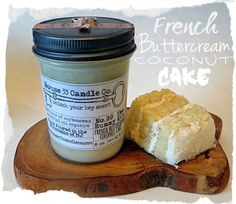 french buttercream coconut cake soy beeswax candle No. 20 The