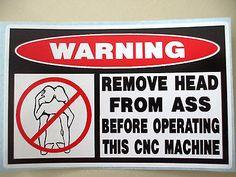 FUNNY TOOL BOX CNC LATHE MILL VERTICAL MACHINE MACHINIST STICKER DECAL HEAD 606