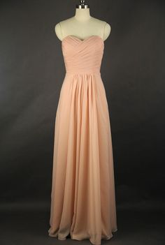 Hey, I found this really awesome Etsy listing at https://www.etsy.com/listing/167003481/peach-bridesmaid-dress-a-line-floor