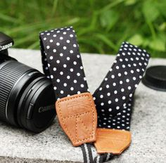 I want a fun camera strap... thinking about this Polka Dot DSLR one I found on @eBay #followitfindit