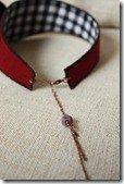 boucles d'oreilles feuilles bijoux textiles 044