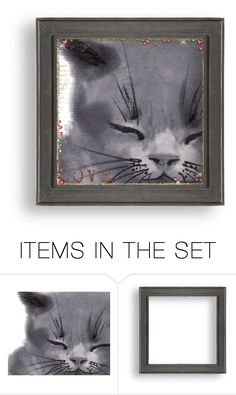 """Kitty Love..."" by maryv-1 ❤ liked on Polyvore featuring art"
