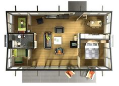 Floorplan, double 8 x 40