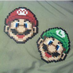 Mario and Luigi hama beads by Lufy & Koco