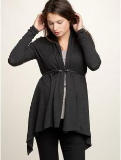 Lightweight jackets like this one from GAP maternity are easy to take off if you get too warm.