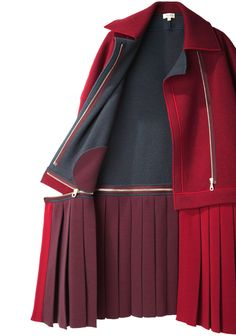 Kenzo / Pleated Skirt Coat | La Garçonne