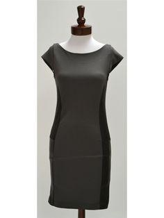 Alice + Olivia Eva Leather Panel Dress - NewChicBoutique.com