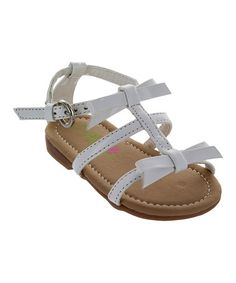 These sweet sandals boast pretty bows and a glossy shine to make the most of sunny days. Ashley White, Laura Ashley, Bow Sandals, Gladiator Sandals, Kids Formal Wear, Kids Outfits, Bows, Children, How To Wear
