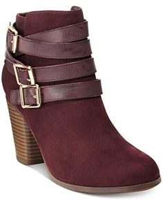 Material Girl Minah Ankle Booties Color Wine 65 ** Want to know more, click on the image.
