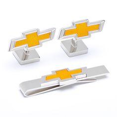 Chevrolet Bowtie Cufflinks and Tie Bar Gift Set