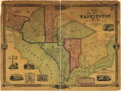 Map of the city of Washington D.C. : established as the permanent seat of the government of the U.S. of Am. / James Keily, surveyor. - 1851 (Library of Congress)