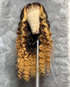 Cute long hairstyles wigs for black women lace front wigs human hair wigs african american wigs – You are in the right place about hair bun Here we offer you the most beautiful pictures about the – Wig Styles, Curly Hair Styles, Natural Hair Styles, Curly Wigs, Human Hair Wigs, Curly Lace Front Wigs, Baddie Hairstyles, Braided Hairstyles, Black Hairstyles