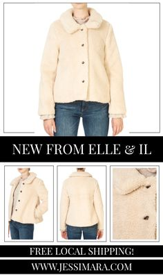 This is the 'Anna' Faux Fur Beige Short Jacket by stunning brand, Elle & Il This gorgeous piece features a lovely collar, a central button fastening, and side pockets. This is the perfect piece to carry you into the colder season! Beige Shorts, Faux Fur, Anna, Pockets, Button, Clothing, Sweaters, Collection, Fashion