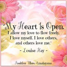 Louise Hay Affirmations, Daily Positive Affirmations, Love Affirmations, Positive Thoughts, Positive Vibes, Positive Quotes, Gratitude Quotes, Louise Hay Quotes, Meditation Musik