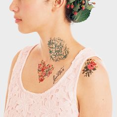 Floral Set contains eight Tattly Temporary Tattoos designed by Rifle Paper Co.