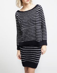 Really like this sweater but not to crazy about the skirt.  Oh well, it doesn't matter...I don't knit!