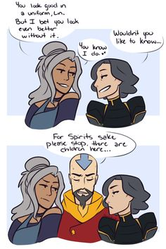 Avatar The Last Airbender Funny, The Last Avatar, Avatar Funny, Avatar Airbender, Avatar Legend Of Aang, Korra Avatar, Team Avatar, Legend Of Korra, Lin Beifong