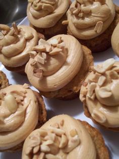 elvis cupcakes (banana bread cupcakes with peanut butter frosting)