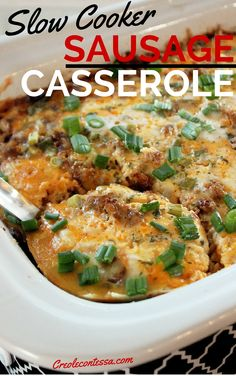 Slow Cooker Sausage Casserole 21 Days Until Christmas Gift Guide-Creole Contessa