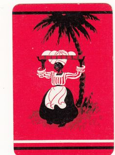 1 Single Vintage Playing Swap Card Lady Carrying Coconuts | eBay