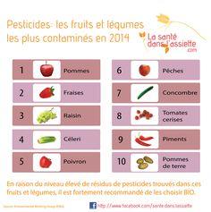 Pesticides: les fruits et légumes les plus contaminés en 2014