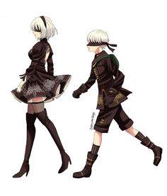 Senior and Junior #2B #9S #NierAutomata #ニーアオートマタ