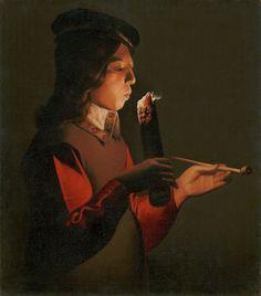 Smoker, 1646 - Georges de La Tour (1593-1652)