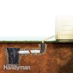 Wet Basement #Repair: Curing a Wet Basement #DIY - Get the tutorial: http://www.familyhandyman.com/basement/wet-basement-repair-curing-a-wet-basement