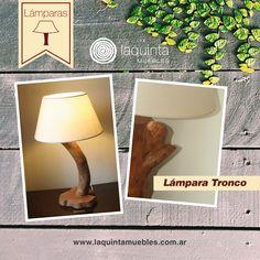 Hoy desde Laquinta queremos que te acerques a nuestra Lámpara Tronco, una lámpara distinguida, artesanal y única. Diseñada con madera para iluminar creativamente tus espacios.