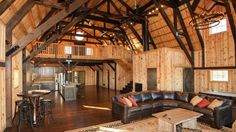 The gambrel barn design is well suited to barn homes or traditional barn uses. Based on European style barns, the gambrel increase the interior capacity vs. Metal Building Homes, Building A House, Building Ideas, Gambrel Barn, Barndominium Floor Plans, Barn House Plans, Pull Barn House, Barn Plans, Pole Barn Homes