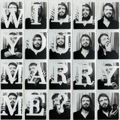 Another very creative marriage proposal- Ein anderer ganz kreativer Heiratsantrag Another very creative marriage proposal - Safe The Date Karten, Propositions Mariage, Foto Fun, Photos Booth, Wedding Proposals, Marriage Proposals, Before Wedding, Here Comes The Bride, Marry Me