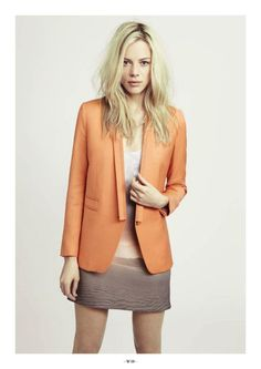 A gorgeous orange blazer from my favourite French label, The Kooples