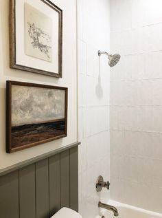 Decor, Home Decor Inspiration, Bathroom Inspiration, Tile Inspiration, Boys Bathroom, Bathroom Style, Bathroom Renos, Laundry In Bathroom, Bathroom Design