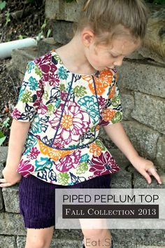 Piped Peplum Top