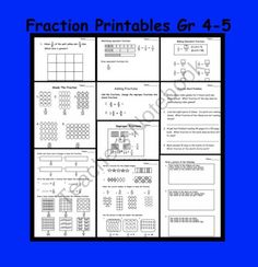 Fractions (Equivalent, Improper, Mixed) Printable Worksheets For Gr Comparing Fractions, Fractions Worksheets, Equivalent Fractions, Math Fractions, Printable Worksheets, Printables, Maths, Teaching Fractions, Fourth Grade Math