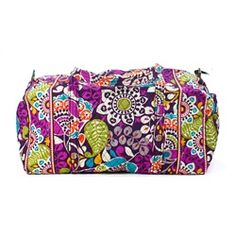 3f95dd50145 Vera Bradley Plum Crazy Large Duffel- The pattern is so purply! (my own