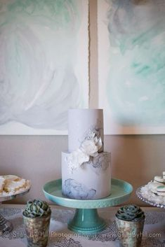 Gorgeous watercolor baby shower party! See more party planning ideas at CatchMyParty.com!