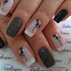 Bridal Nails Designs, Acrylic Nail Designs, Nail Art Designs, Acrylic Nails, Elegant Nail Designs, Elegant Nails, Stylish Nails, Rose Nails, Flower Nails