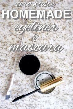 Easy homemade, zero waste eyeliner from http://www.goingzerowaste.com