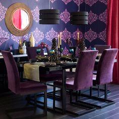 15 Modern Purple Dining Room Designs