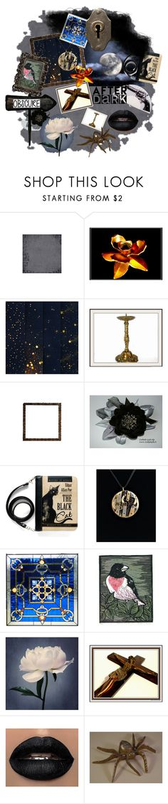 """Obscure after dark"" by woeste ❤ liked on Polyvore featuring interior, interiors, interior design, home, home decor, interior decorating, Cadeau and vintage"