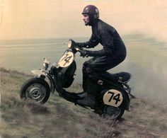 scooter racing during the late 60′s & 70′s / Vespa Hill Climb