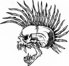 Exploited skull