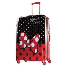 American Tourister Disney Minnie Mouse Red Bow Hardside Spinner Suitcase by American Tourister - Kids' Luggage - Luggage & Backpacks - Macy's Minnie Mouse Luggage, Disney Luggage, Kids Luggage, Mickey Minnie Mouse, Luggage Sets, Travel Luggage, Cheap Luggage, Luggage Case, Disney Mickey